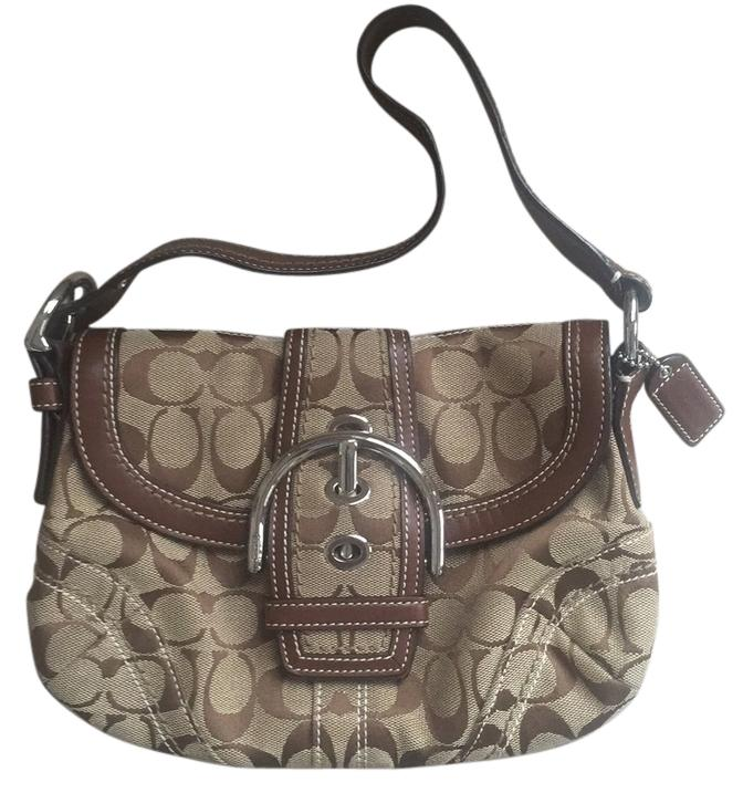 5b8860e69e1 closeout coach messenger crossbody in signature jacquard khaki brown d943b  8d1cb  inexpensive coach shoulder bag b99c3 92597