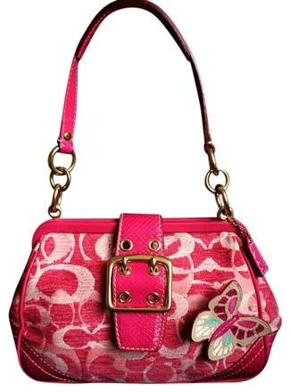 Coach Louis Vuitton Dooney Bourke Channel Rare Vintage Satchel in Pink