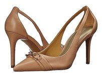 Coach A6476 Theo Rose Petal Semi Matte Nappa Leather High Heels Beige Pumps