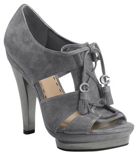Coach Suede Gladiator Strappy Grey Sandals