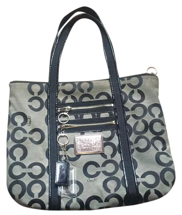 coach bag black and gray pm6x  coach bag black and gray
