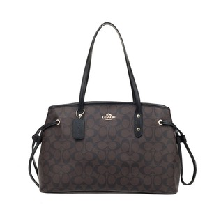 Coach Tote in Black & Brown