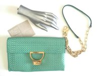 Coccinelle Turquoise Green Clutch