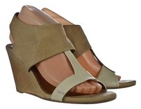 Coclico Womens Wedges Beige Platforms