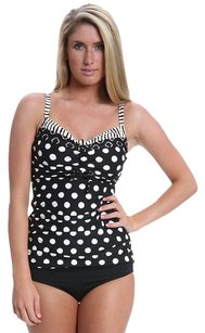 Coco Reef COCO REEF~2PC HIGH TIDE Black POLKA DOT BRATOP TANKINI~34C/LGE Bottom