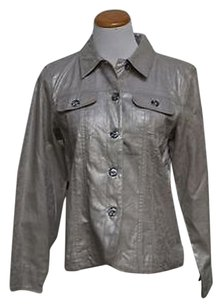 Coldwater Creek Basic Silver Jacket