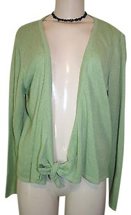 Coldwater Creek Acrylic Nylon Blend Tie Front Cardigan Sweater