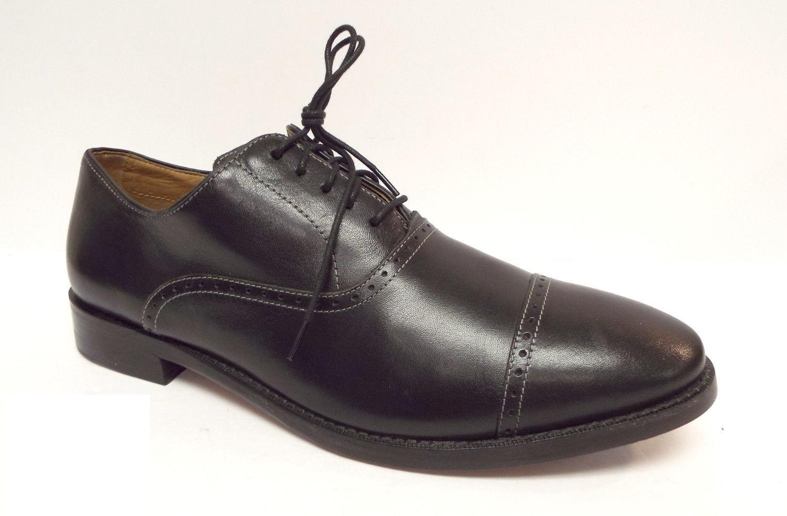 Cole Haan Black Leather Cap Toe Oxfords Men's Shoes ...
