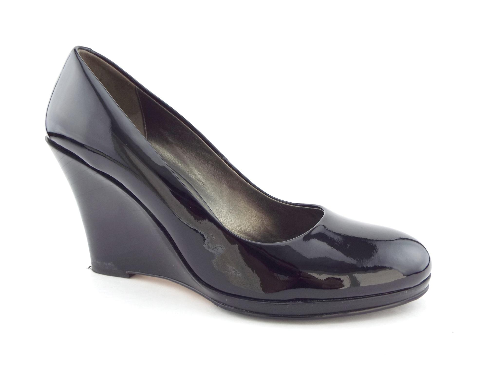 Cole Haan Patent Leather Wedge Pumps best place RVOMh