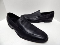 Cole Haan Nike Air Black Leather Slip-on Dress Loafer Shoes