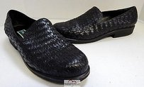 Cole Haan Leather Woven Black Flats