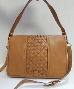 Cole Haan Tan Leather Flap Cross Body Bag
