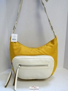 Cole Haan Mustard Nylon Ivory Cross Body Bag