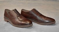 B6 Cole Haan Dark Brown Leather Cap Toe Oxfords Dress Shoes
