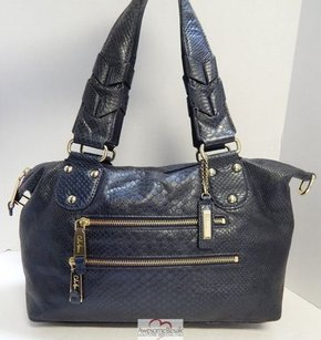 Cole Haan Deep Snake Leather Satchel in Gray