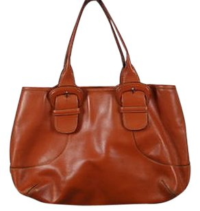 Cole Haan Womens Leather Handbag Satchel in Orange