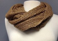 Collection Eighteen Collection Eighteen Brown Open Knit Acrylic Lightweight Cowl Scarf B3086