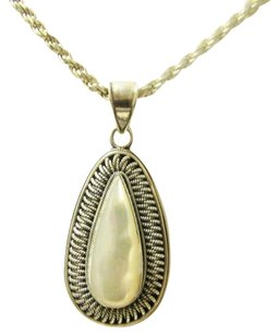 Colleen Lopez Colleen Lopez Mother of Pearl Pear Shape Pendant without Chain