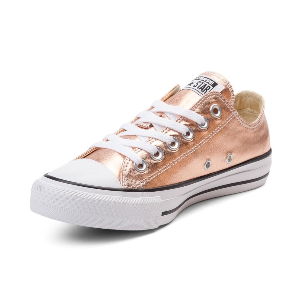 converse metallic rose gold