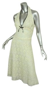 Corey Lynn Calter short dress Ivory Womens Floral Lace Crochet Overlay Knee on Tradesy