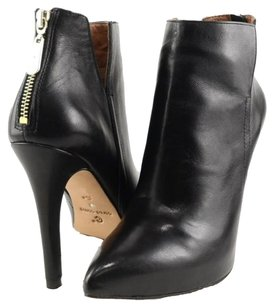 Corso Como Alexandra Leather Womens Designer Pointed Toe Ankle 6.5 Black Boots