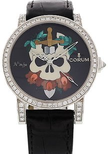 Corum Limited Edition Corum Skull Dial 18k White Gold Diamonds 982.202.69