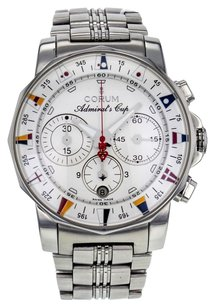 Corum Men's Admirals Cup 985.644.20 Automatic Chronograph Watch in Stainless Steel with Silver Dial WTSCA3