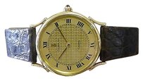 Corum Mens Corum 18k Yellow Gold Dress Watch On Leather Strap
