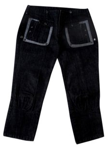CoSTUME NATIONAL Capri 5 Pockets Capri/Cropped Denim-Dark Rinse