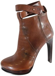 CoSTUME NATIONAL Cognac Leather Boots