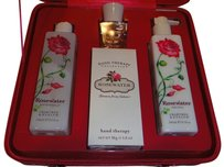 Crabtree & Evelyn Rosewater 4 Pc. Gift Set by Crabtree & Evelyn With Pink Floral Travel Case