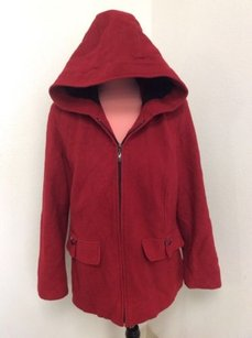 Croft & Barrow Womens Wool Red Jacket