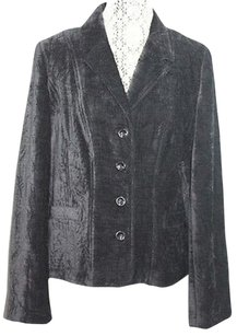 Croft & Barrow & Velvet Jacket Black Blazer