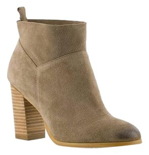 Crown Vintage Round Toe TAUPE SUEDE ANKLE Boots