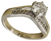 Crystal Ring Jewelry Eternity Womens White Gold