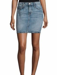 Current/Elliott Faded Triumph Mini 240489f Mini Skirt Blue denim