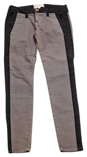 Current/Elliott Womens Classic Blackgray Cotton Skinny Slim Denim Skinny Jeans