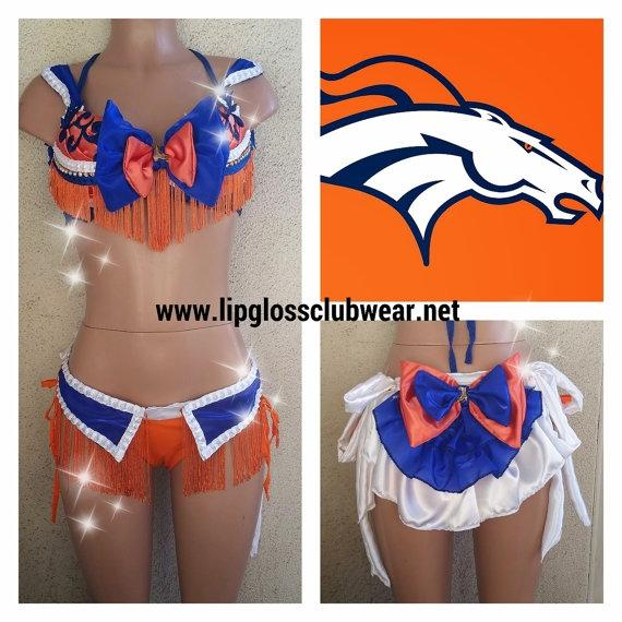 Custom Denver Broncos Cheerleader Halloween Costume