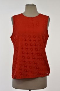 Cynthia Rowley Womens Cut Top Red