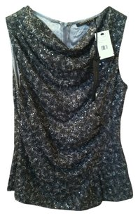 Cynthia Steffe Top Silver Sequins