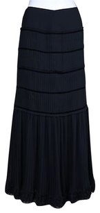 Dana Buchman Womens Long Formal Skirt Black