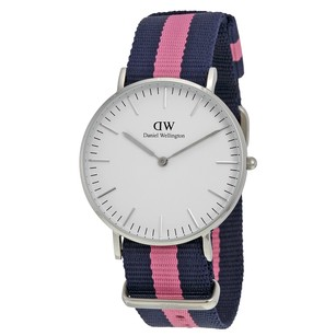 Daniel Wellington Classic Winchester Eggshell White Dial Pink Nylon Ladies Watch