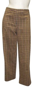 David Meister Brown Blend Plaid Cropped Hs1272 Capri/Cropped Pants Multi-Color