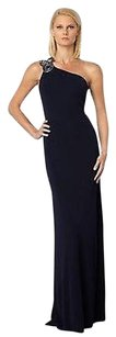 David Meister Crystal Jeweled Beaded One Gown Long Maxi Dress