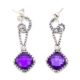 David Yurman Accessories,womens,dy_earrings_cushiononpoint_amethyst