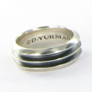 David Yurman Mens Ring Knife-edge 8mm Band Ring Sterling