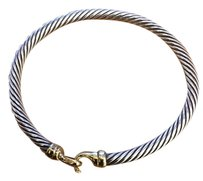 David Yurman Cable Classic Buckle Bracelet with 14K Gold, 5mm $750 Cable Classic