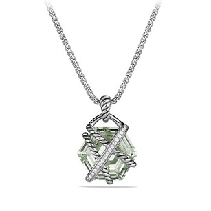David Yurman Cable Wrap Pendant Necklace with Prasiolite and Diamonds