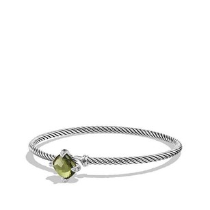David Yurman Chatelaine Bracelet with Green Orchid and Diamonds (Medium)