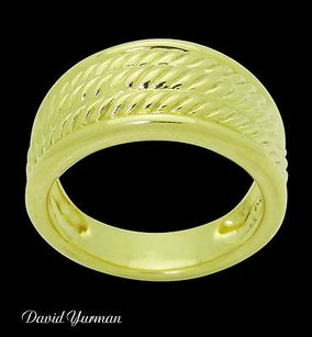 David Yurman David Yurman 18k Yellow Gold Wide Cable Band Ring R778